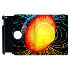 Cross Section Earth Field Lines Geomagnetic Hot Apple Ipad 3/4 Flip 360 Case by Mariart
