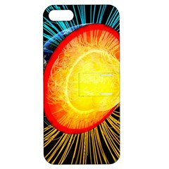 Cross Section Earth Field Lines Geomagnetic Hot Apple Iphone 5 Hardshell Case With Stand by Mariart