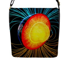 Cross Section Earth Field Lines Geomagnetic Hot Flap Messenger Bag (l)  by Mariart