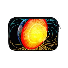 Cross Section Earth Field Lines Geomagnetic Hot Apple Ipad Mini Zipper Cases by Mariart