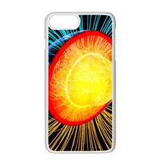 Cross Section Earth Field Lines Geomagnetic Hot Apple Iphone 7 Plus White Seamless Case
