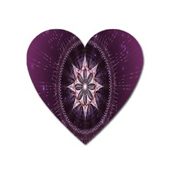 Flower Twirl Star Space Purple Heart Magnet by Mariart