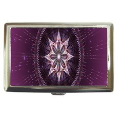 Flower Twirl Star Space Purple Cigarette Money Cases by Mariart