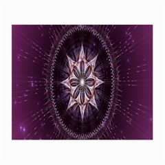 Flower Twirl Star Space Purple Small Glasses Cloth by Mariart
