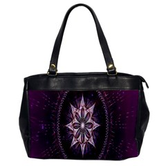 Flower Twirl Star Space Purple Office Handbags by Mariart