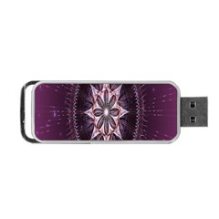 Flower Twirl Star Space Purple Portable Usb Flash (two Sides) by Mariart