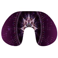 Flower Twirl Star Space Purple Travel Neck Pillows by Mariart