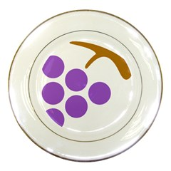 Fruit Grape Purple Porcelain Plates by Mariart