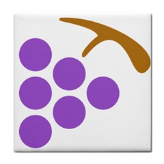 Fruit Grape Purple Face Towel by Mariart