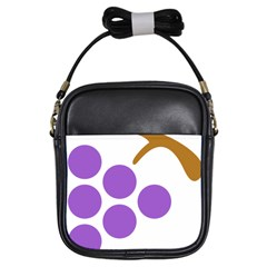 Fruit Grape Purple Girls Sling Bags by Mariart