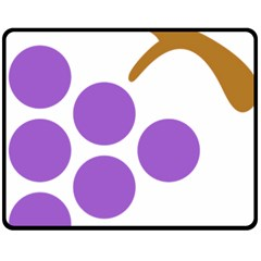 Fruit Grape Purple Fleece Blanket (medium)  by Mariart