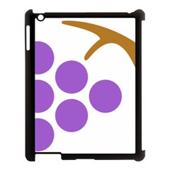 Fruit Grape Purple Apple Ipad 3/4 Case (black) by Mariart