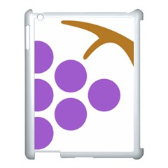 Fruit Grape Purple Apple Ipad 3/4 Case (white) by Mariart
