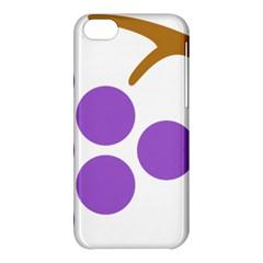 Fruit Grape Purple Apple Iphone 5c Hardshell Case by Mariart