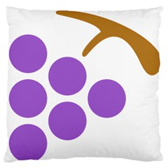 Fruit Grape Purple Large Flano Cushion Case (two Sides) by Mariart