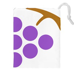 Fruit Grape Purple Drawstring Pouches (xxl)
