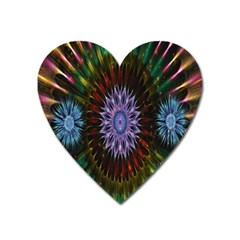 Flower Stigma Colorful Rainbow Animation Gold Space Heart Magnet by Mariart