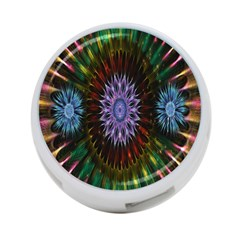 Flower Stigma Colorful Rainbow Animation Gold Space 4 Port Usb Hub (one Side) by Mariart