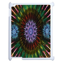 Flower Stigma Colorful Rainbow Animation Gold Space Apple Ipad 2 Case (white) by Mariart