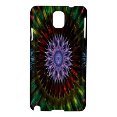 Flower Stigma Colorful Rainbow Animation Gold Space Samsung Galaxy Note 3 N9005 Hardshell Case by Mariart