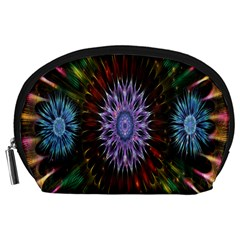 Flower Stigma Colorful Rainbow Animation Gold Space Accessory Pouches (large)  by Mariart