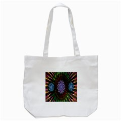 Flower Stigma Colorful Rainbow Animation Gold Space Tote Bag (white) by Mariart