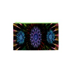 Flower Stigma Colorful Rainbow Animation Gold Space Cosmetic Bag (xs) by Mariart