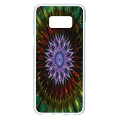 Flower Stigma Colorful Rainbow Animation Gold Space Samsung Galaxy S8 Plus White Seamless Case by Mariart