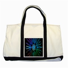 Flower Stigma Colorful Rainbow Animation Space Two Tone Tote Bag by Mariart