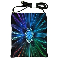 Flower Stigma Colorful Rainbow Animation Space Shoulder Sling Bags by Mariart