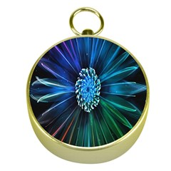 Flower Stigma Colorful Rainbow Animation Space Gold Compasses by Mariart