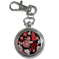 Floral Flower Heart Valentine Key Chain Watches by Mariart