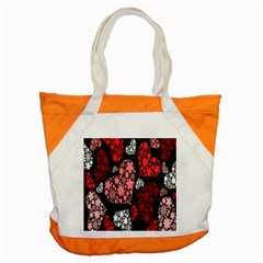 Floral Flower Heart Valentine Accent Tote Bag by Mariart