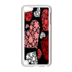 Floral Flower Heart Valentine Apple Ipod Touch 5 Case (white) by Mariart