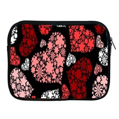 Floral Flower Heart Valentine Apple Ipad 2/3/4 Zipper Cases by Mariart