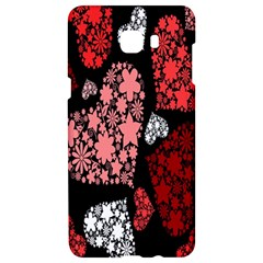 Floral Flower Heart Valentine Samsung C9 Pro Hardshell Case  by Mariart