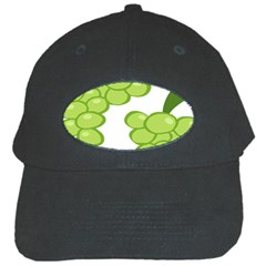 Fruit Green Grape Black Cap by Mariart