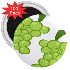 Fruit Green Grape 3  Magnets (100 Pack) by Mariart