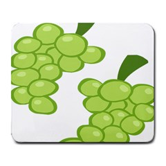 Fruit Green Grape Large Mousepads by Mariart
