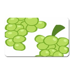 Fruit Green Grape Magnet (rectangular) by Mariart