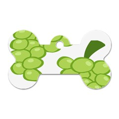 Fruit Green Grape Dog Tag Bone (two Sides) by Mariart