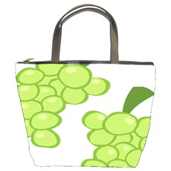 Fruit Green Grape Bucket Bags by Mariart