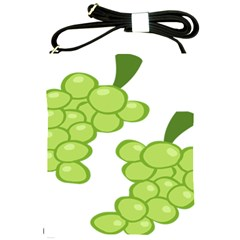 Fruit Green Grape Shoulder Sling Bags by Mariart