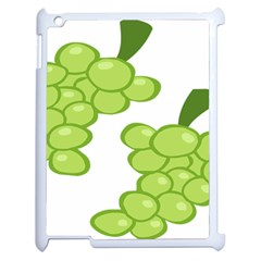 Fruit Green Grape Apple Ipad 2 Case (white) by Mariart