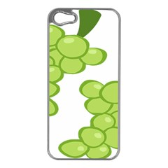 Fruit Green Grape Apple Iphone 5 Case (silver) by Mariart