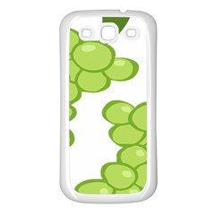 Fruit Green Grape Samsung Galaxy S3 Back Case (white) by Mariart