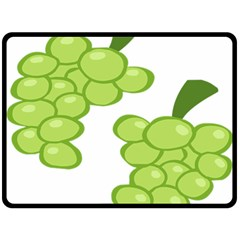 Fruit Green Grape Double Sided Fleece Blanket (large)  by Mariart