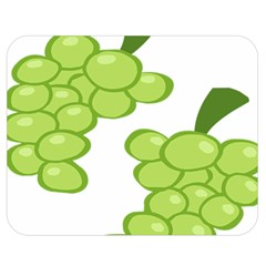 Fruit Green Grape Double Sided Flano Blanket (medium)  by Mariart