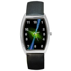 Gas Yellow Falling Into Black Hole Barrel Style Metal Watch by Mariart