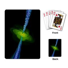 Gas Yellow Falling Into Black Hole Playing Card by Mariart